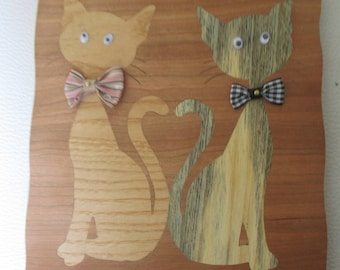 pair of cats in bowties