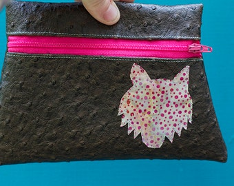 Wolf Totem Brown Vinyl Pouch