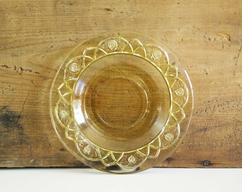 Amber Rosemary Saucer / Federal Glass Co Depression Glass, Dutch Rose