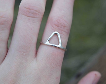 Mountain Range Ring, Mountain Ring, Silver Mountain Ring, Forest Ring, Silver Forest Ring, One of a Kind Ring, Silver Ring, Real Silver