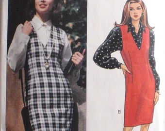 Misses/Misses Petite Jumper and Shirt Sewing Pattern - Fast and Easy Butterick 6266 - Sizes 18-20-22, Bust 40 - 44