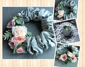 Peaceful Summer Wreath USA Handmade Ready To Ship By Rachelle At My Spinning My Home Decor