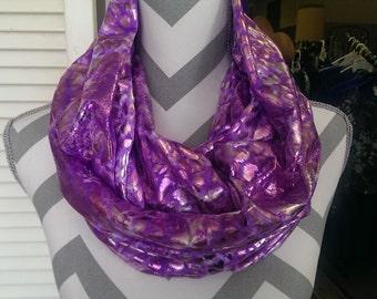Scarves, Infinity Scarf, Fashion Scarves, Formal Purple Scarf, Cowl Scarf, Loop Scarf, Circle Scarf, Fashion Scarf, Ladies Scarf/Clothing