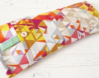 Soothing Lavender Eye Pillow - Colourful triangles