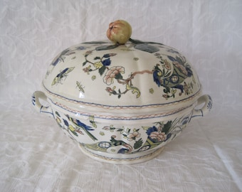 19th Century Gien Tureen French Faience A la Corne Cornucopia France