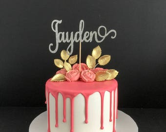 Any Name! Cake Topper, Custom Name Cake Topper, Custom Cake Topper, Personalized Name Cake Topper, Birthday Cake Topper