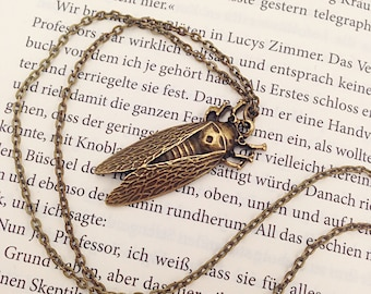 """Insects """"Cicada"""" pendant in bronze"""