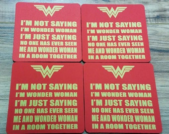 Wonder Woman Fabric Coasters Individual/Set