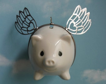 Precious Moments Flying Pig