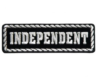 """Officer Independent, High Thread Embroidered Iron-on / Saw-on Rayon PATCH - 4"""" X 1"""""""