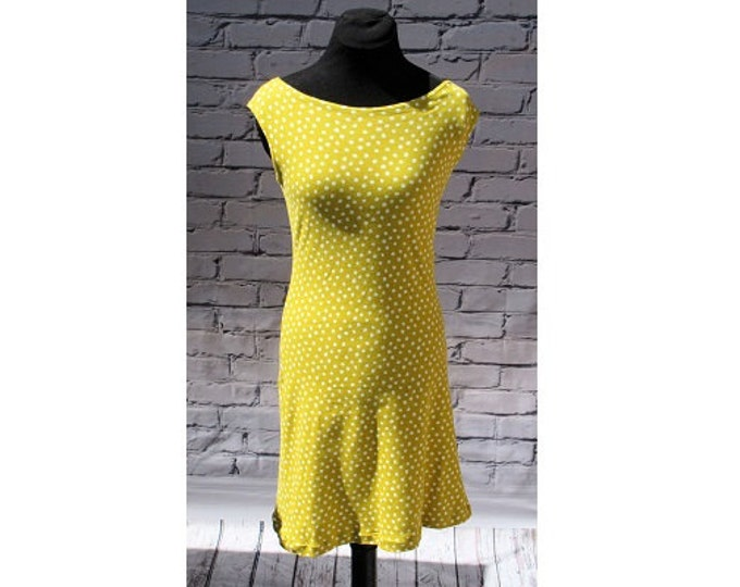 Yellow Polka Dot Organic Cotton Sundress