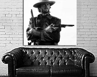 06 Clint Eastwood Western Cowboy Print