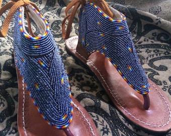 Kenyan sandals | maasai sandals |african gladiator sandals | summer sandals | african summer sandals | Zulu sandals | african beaded sandals