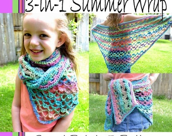 3 in 1 Summer Wrap Crochet PATTERN