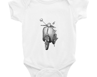 Baby Shower Gift Baby Boy Gift Baby Girl Gift Funny Baby Onesies Hipster Baby Unique Baby Gift Hipster Onesies Vespa Vespa Art Funny Onesies
