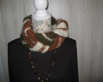 snood neck mohair woolen woman
