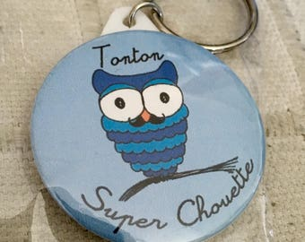 Keychain Uncle Super cool blue