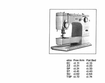 Vintage bernina record 730 731 732 sewing machine service vintage elna star ec zz sp st su tsp cl 11 21 31 41 62 72 service repair manual pdf download sewing machine fandeluxe Gallery