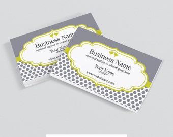 Business Card Designs - Printable Business Card Design - Premade - Birds 15b