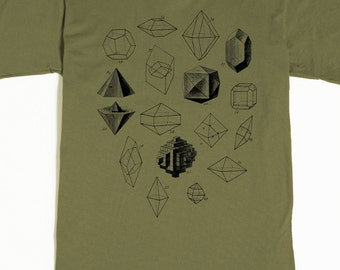 Geometric Shapes T-shirt - Men's Graphic Tee Shirt - Geometric Math Art Tshirt
