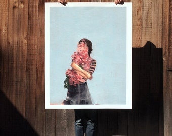 So Much .  extra large wall art . giclee print