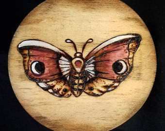 Burgundy Butterfly Trinket Box