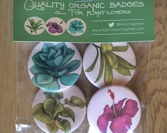 Plant badge set