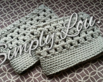 Crochet Boot Cuffs - READY TO SHIP
