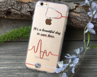 Beautiful Day to Save Lives Phone Case for iPhone 5, SE, 6, 6 Plus, 7, 7Plus, 8, 8 Plus and X. TPU or Wood Options