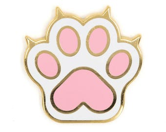 Kat Paw emaille pins