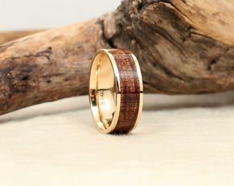 Hawaiian Koa Gold and Wood Ring
