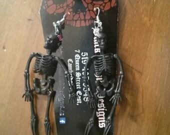 Black Skelly Earrings gothic
