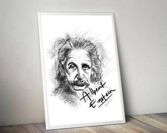 Albert Einstein Gliceé Art/Canvas Print [Limited Edition]