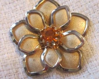 Vintage Gold Floral Pendant