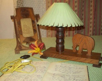 a lovely little lamp, small elephant decor child