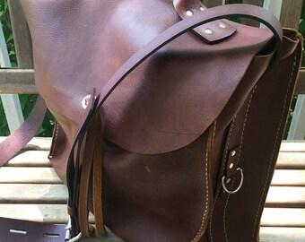 MothersDay/TeachersSale New Leather Barn Bag * Leather Satchel * Leather Messenger * Large Leather Bag * Big Boho Bag * Custom Made Leather