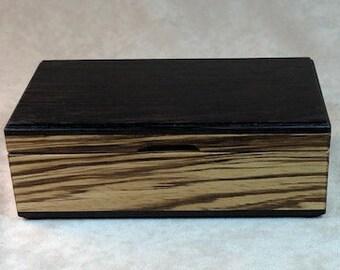 Watch Case-Eyeglass Case - Wenge & Zebrawood - MLB 225