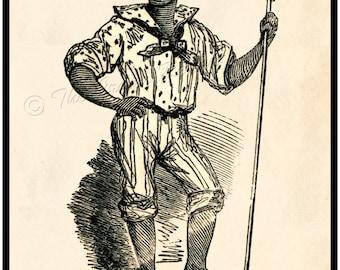 Civil War print - Slavery, Emancipation - Contraband Of War