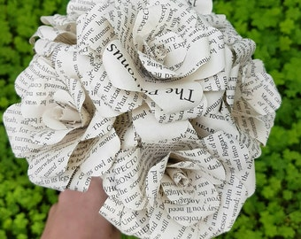 Harry Potter Book Bouquet-Book lover gift-Book Bouquet-Book decor- Unique Gift- Bridal Bouquet- Paper flowers-Wedding- Geek gift- Valentines