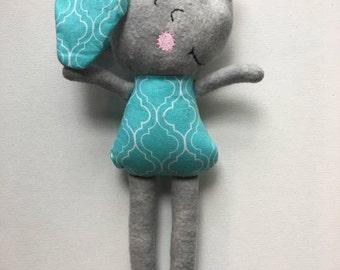 New Item- Happy Elephant- Handmade- Free USA Shipping