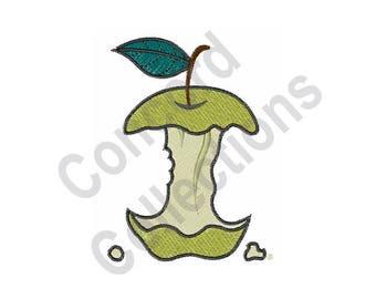 Green Apple - Machine Embroidery Design, Apple, Apple Core