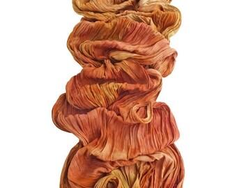 Crinkle scarf, orange crinkle scarf, fringe scarf, best friend gift, trending now, boho scarf, vegan gift, best selling items, scarves