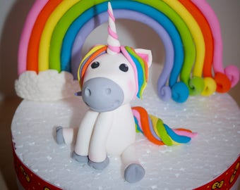 Unicorn Cake Topper, Unicorn Party, Custom Unicorn Cake, Unicorn Birthday, Unicorn Party Decor, Unicorn Cake, Rainbow edible 3D fondant