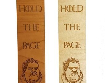 """Game of Thrones Inspired Hodor """"Hold the Page"""" Wooden Book Mark"""