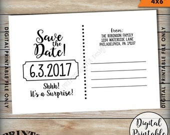 cork coaster save the date surprise 50th birthday party