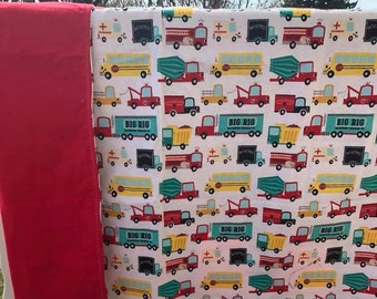 Big Trucks Baby Blanket