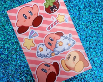 Hoshi no Kaabii / Kirby of the Stars Mini Kiss-cut Sticker Sheet