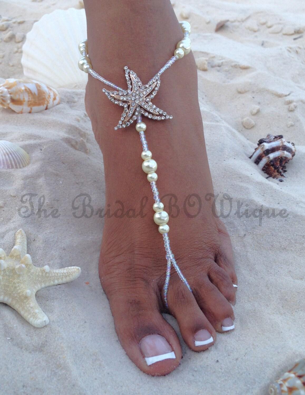 Starfish barefoot sandals beach wedding barefoot sandal zoom junglespirit Gallery