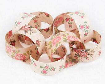 Pretty Romantic Rose Vintage Style Paper Chain Wedding Venue Decoration - 150 assorted pieces