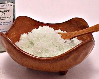 Eucalyptus Mint Bath Salts, Dead Sea Salt Soak, Epsom Salts,  All Natural Bath Salts with Essential Oils, Detox Bath Salts, Sore Muscle Soak